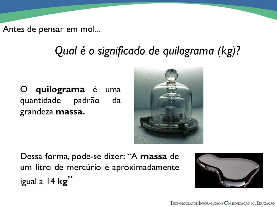 Qual é o significado de quilograma (kg)