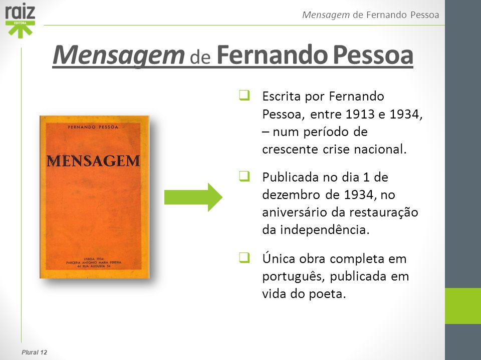 Mensagem de Fernando Pessoa