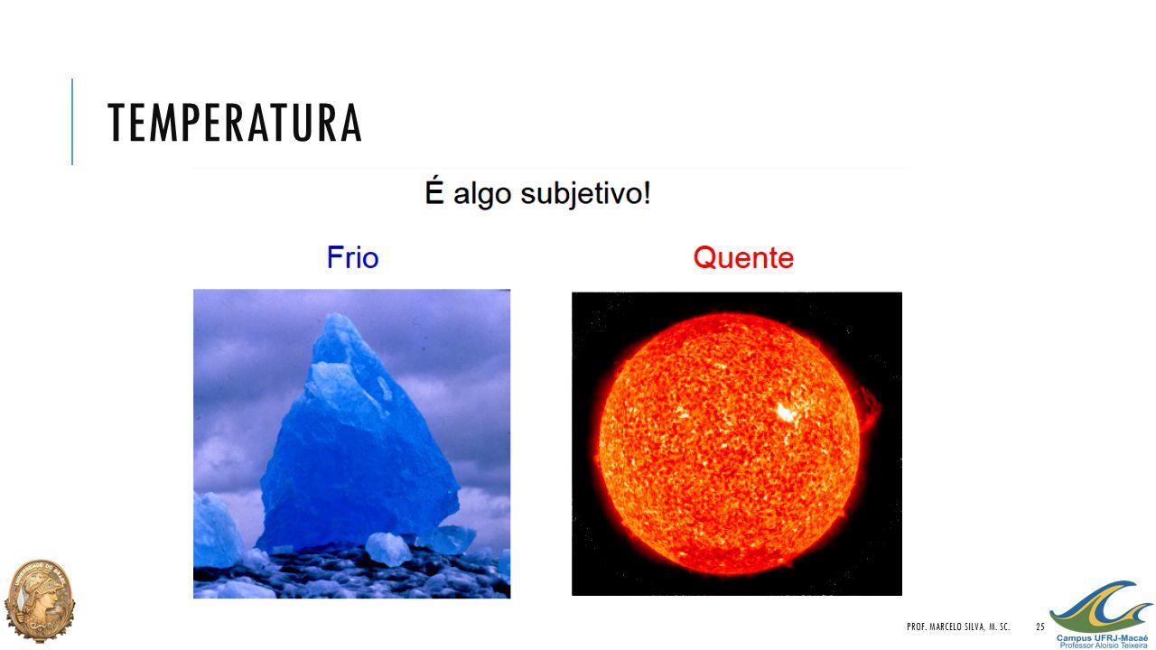 Temperatura Prof. Marcelo Silva, M. Sc.