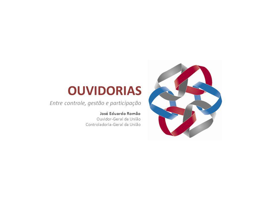 OUVIDORIAS Entre controle, gestão e participação José Eduardo Romão