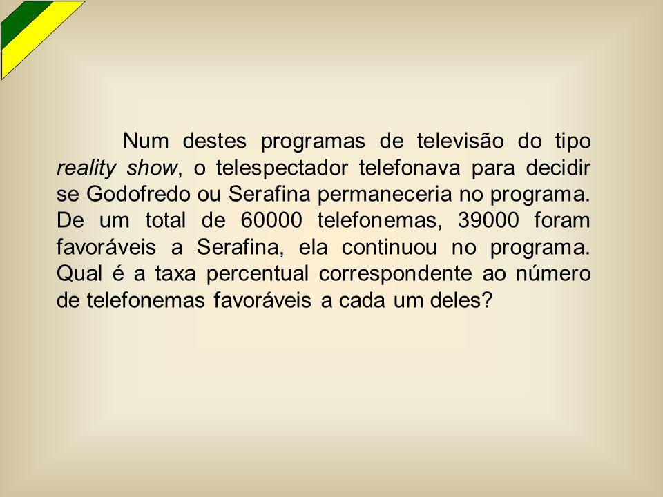 Num destes programas de televisão do tipo reality show, o telespectador telefonava para decidir se Godofredo ou Serafina permaneceria no programa.