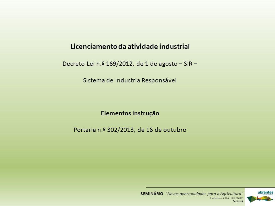 Licenciamento da atividade industrial