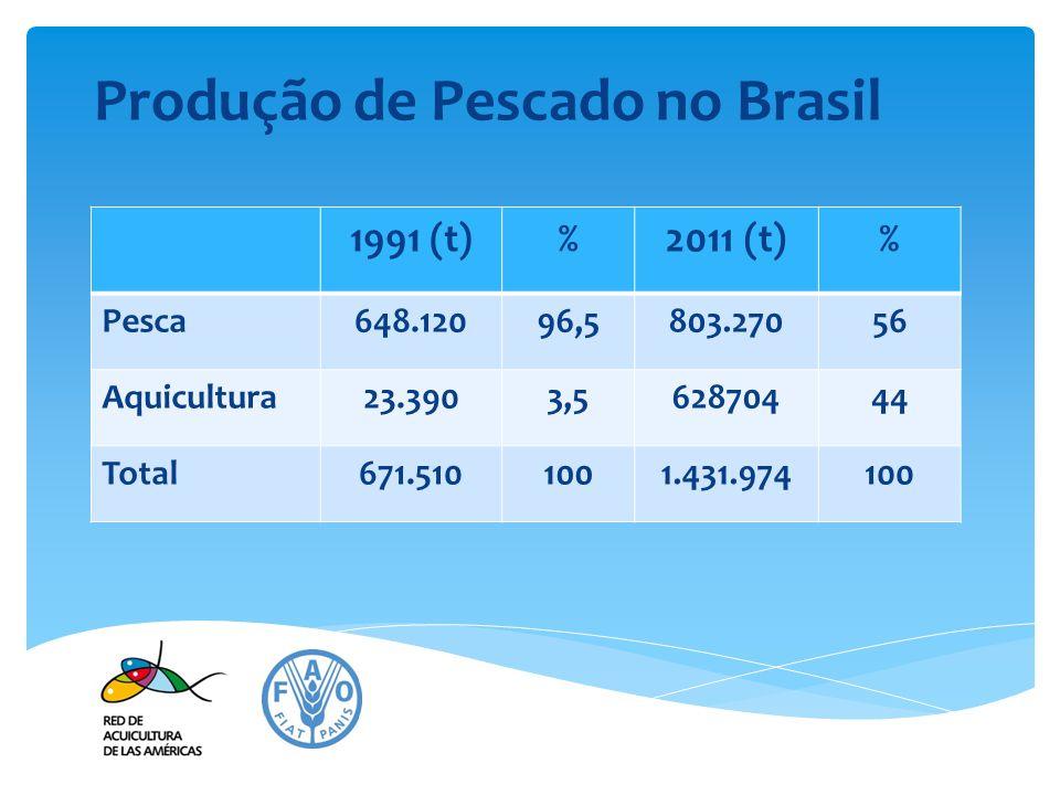 Produção de Pescado no Brasil