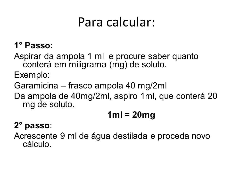 Para calcular: