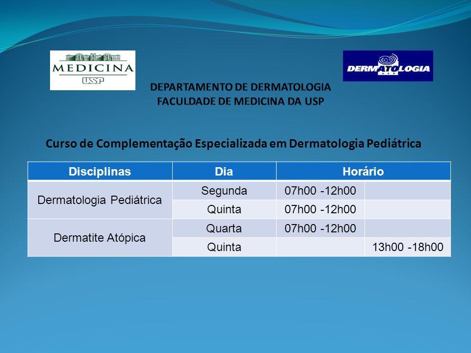 DEPARTAMENTO DE DERMATOLOGIA FACULDADE DE MEDICINA DA USP