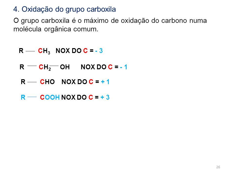 4. Oxidação do grupo carboxila