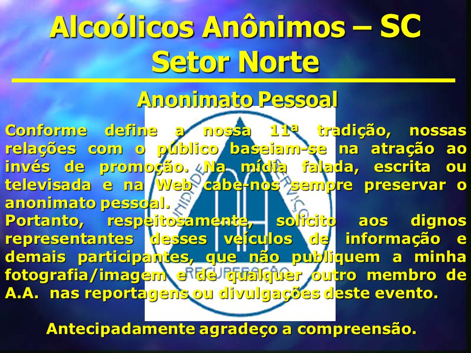 Alcoólicos Anônimos – SC