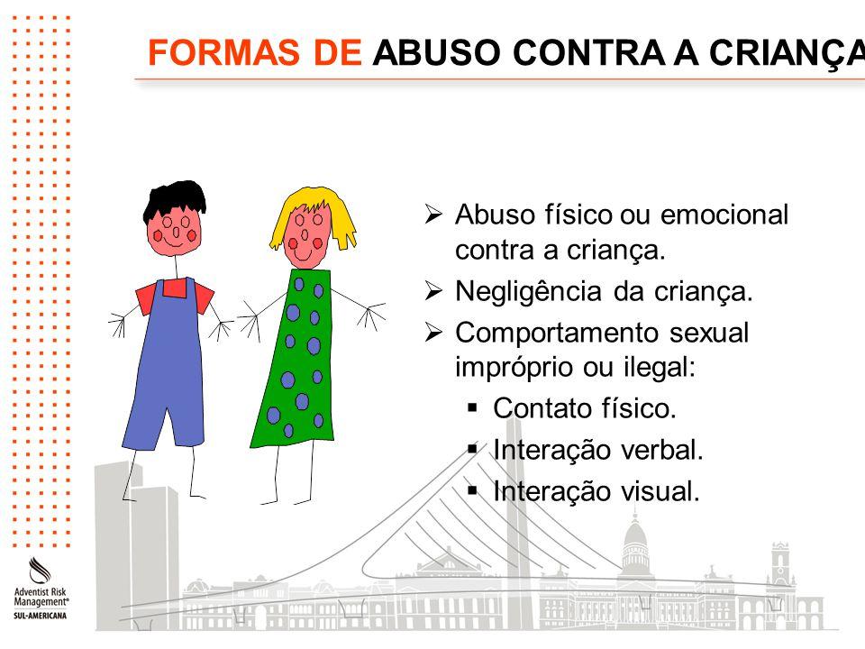 FORMAS DE ABUSO CONTRA A CRIANÇA