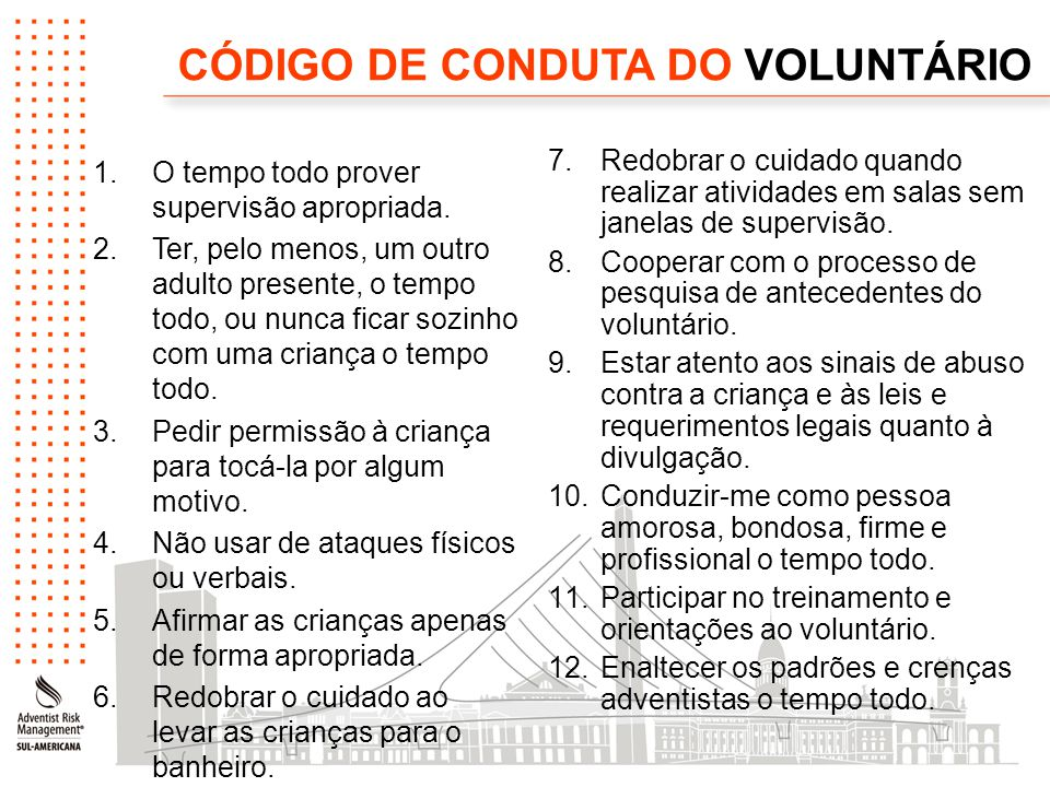 CÓDIGO DE CONDUTA DO VOLUNTÁRIO