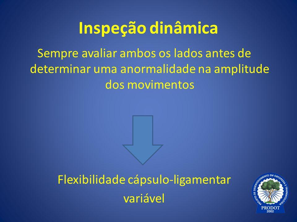 Flexibilidade cápsulo-ligamentar
