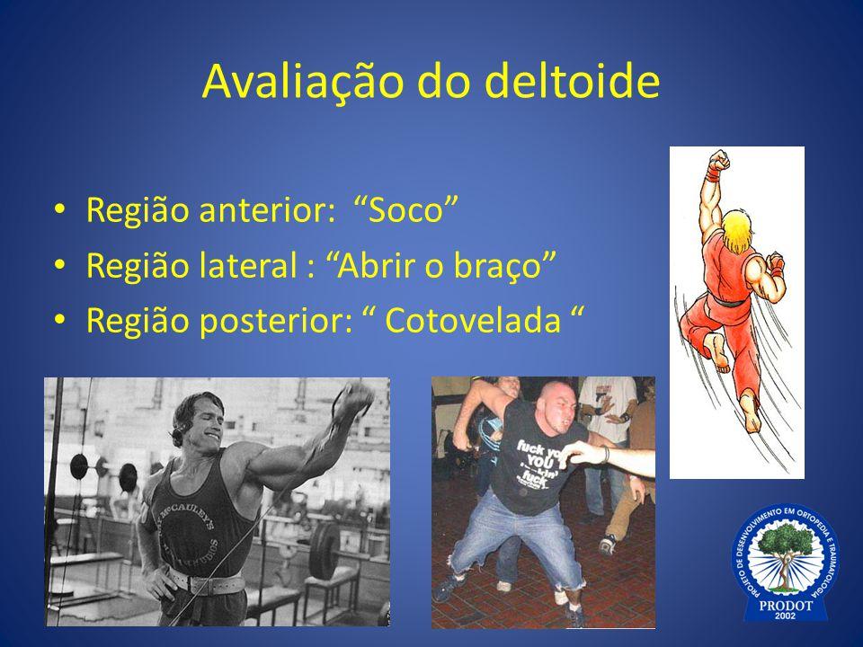 Avaliação do deltoide Região anterior: Soco