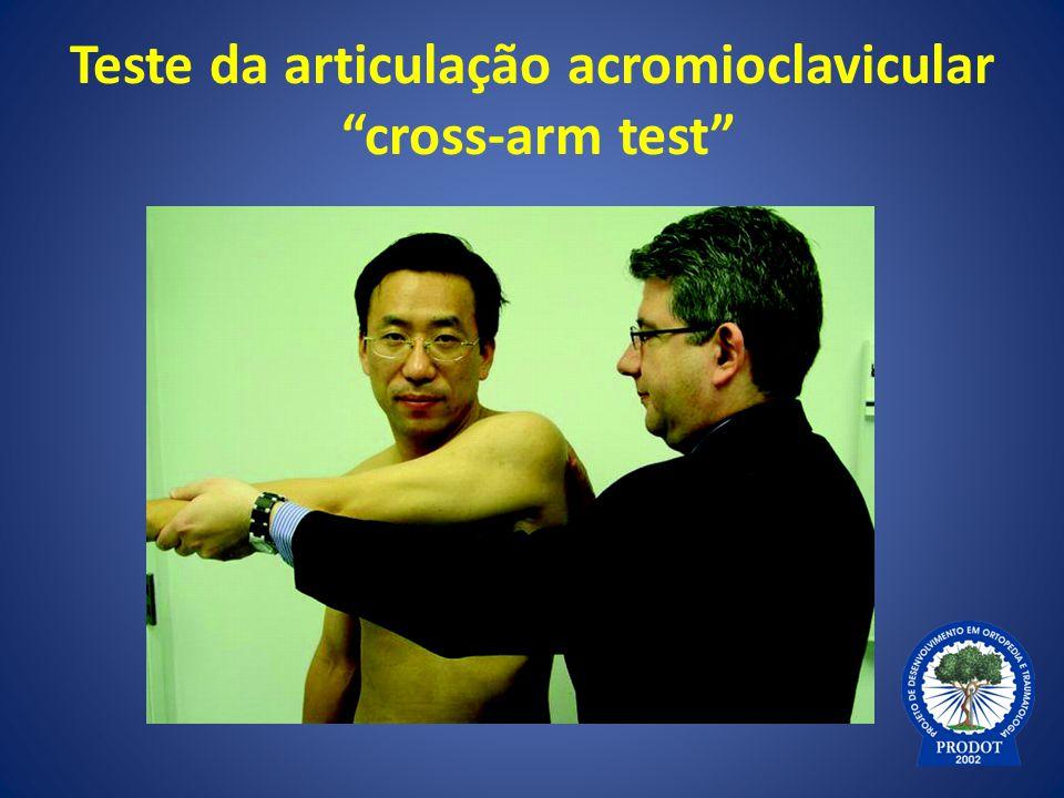 Teste da articulação acromioclavicular cross-arm test