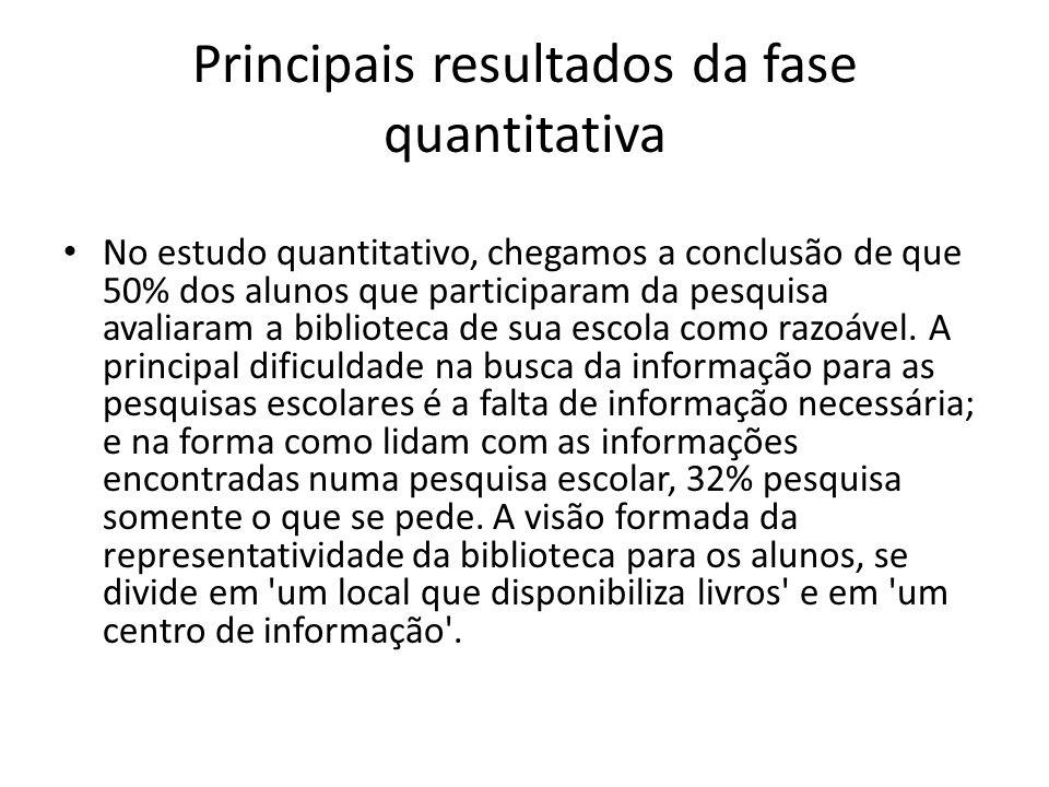 Principais resultados da fase quantitativa