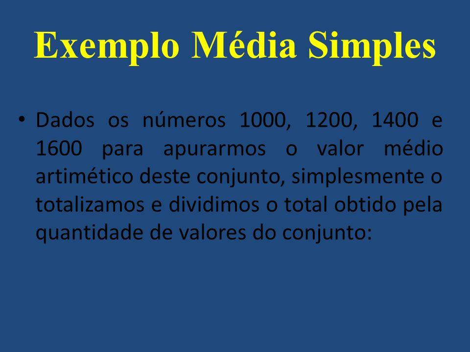 Exemplo Média Simples