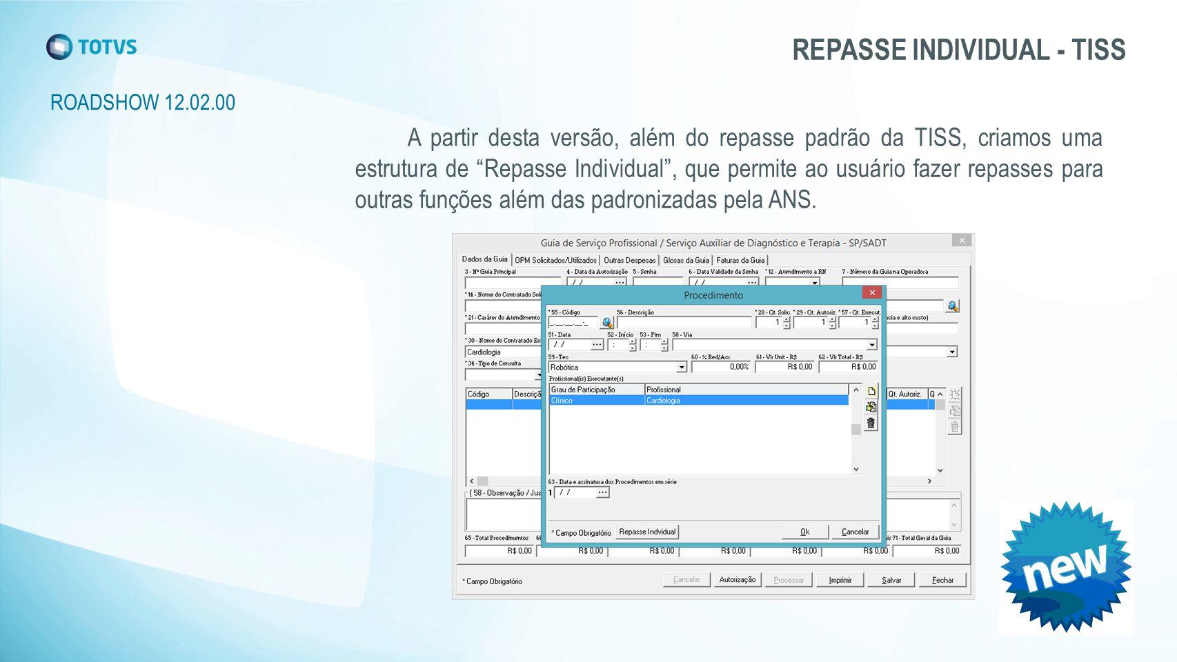 REPASSE INDIVIDUAL - TISS