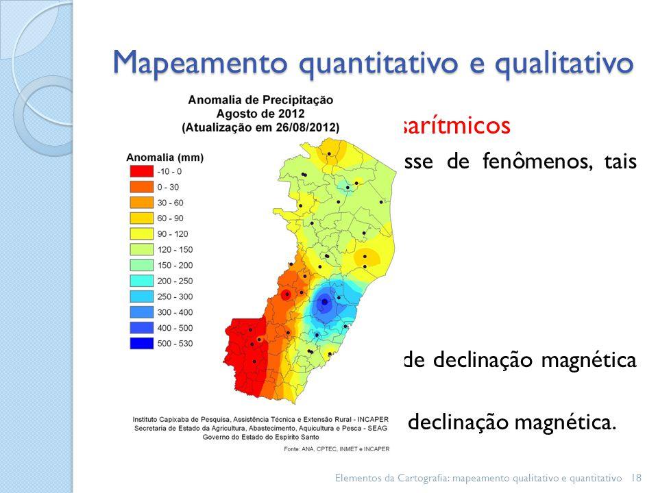 Mapeamento quantitativo e qualitativo