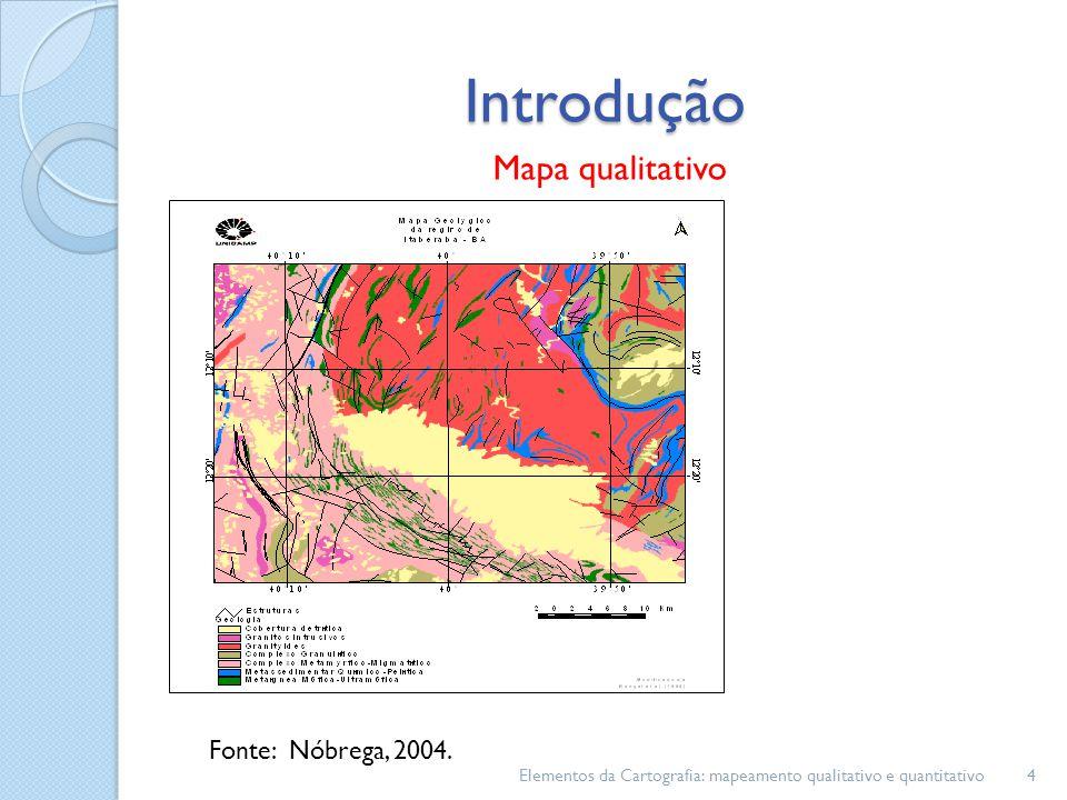 Introdução Mapa qualitativo Fonte: Nóbrega, 2004.