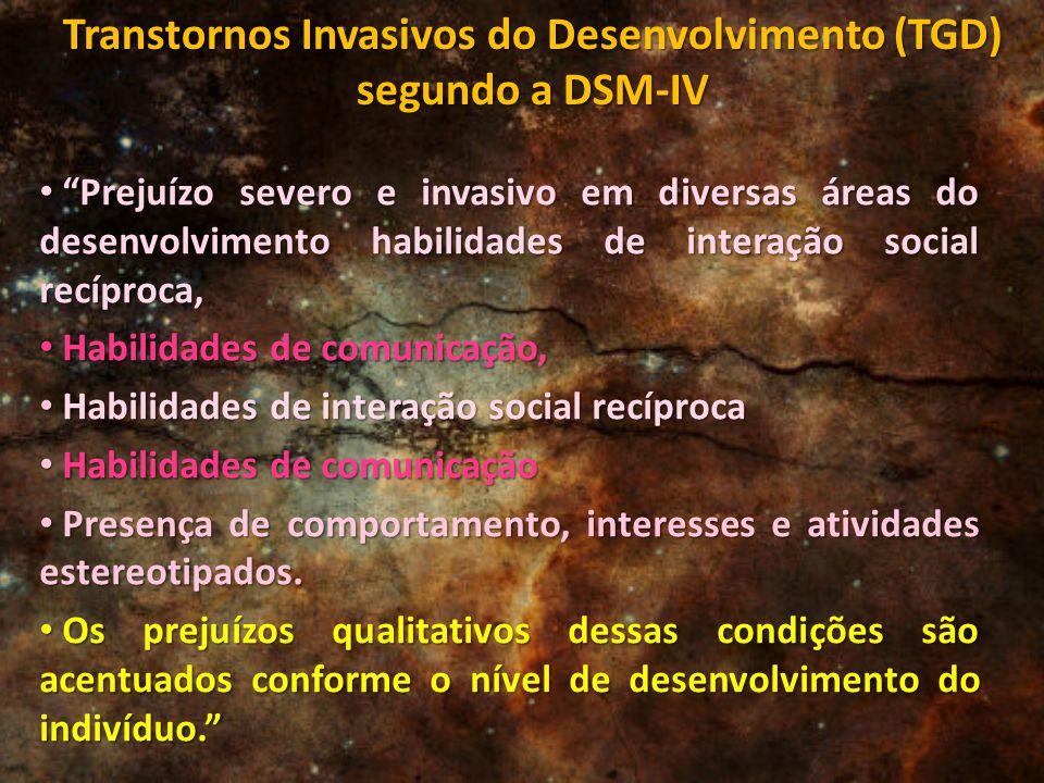 Transtornos Invasivos do Desenvolvimento (TGD) segundo a DSM-IV
