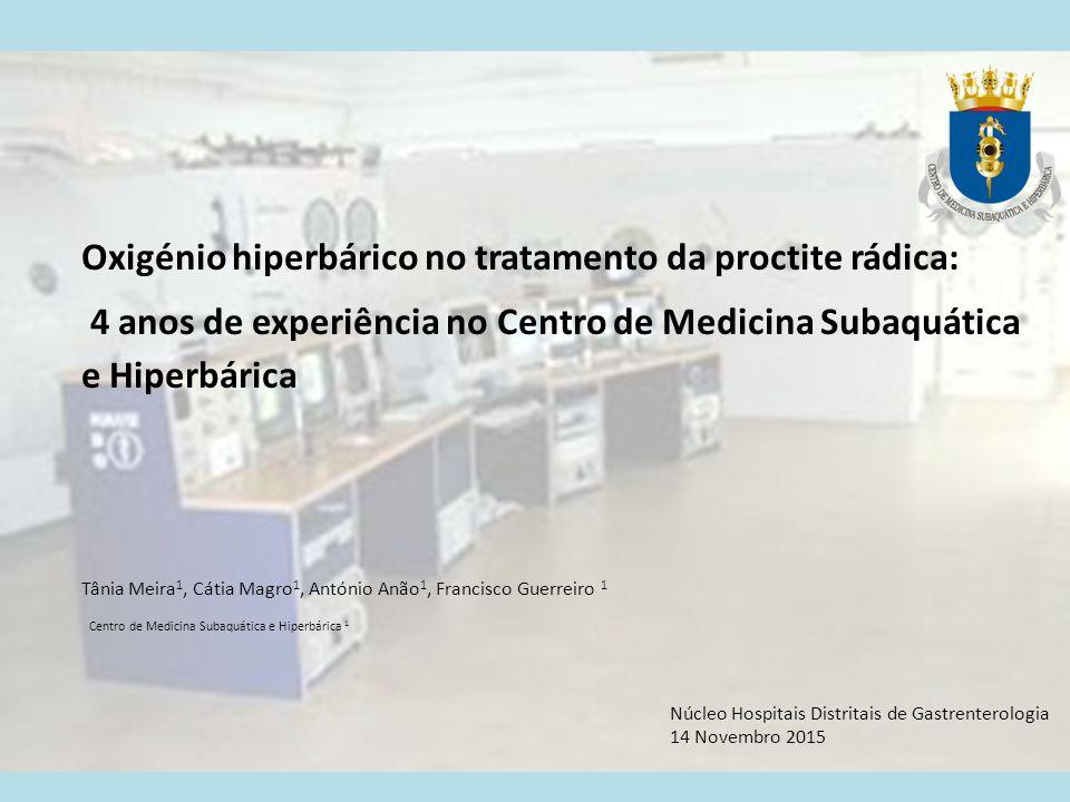 Oxigénio hiperbárico no tratamento da proctite rádica: