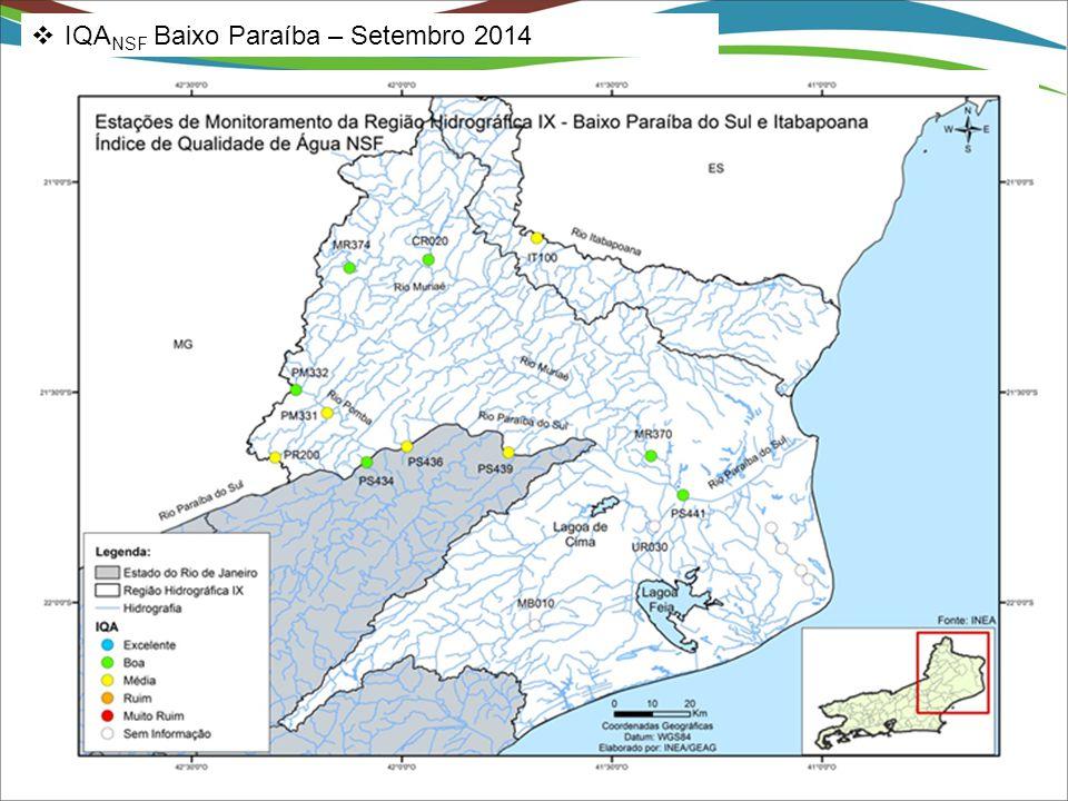 IQANSF Baixo Paraíba – Setembro 2014