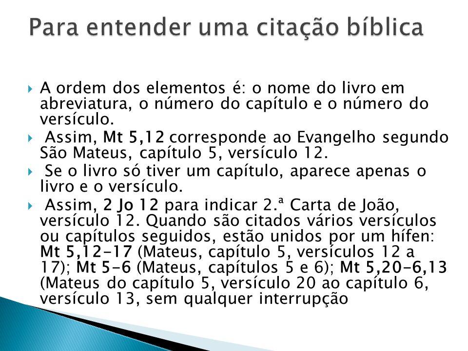 Para entender uma citação bíblica