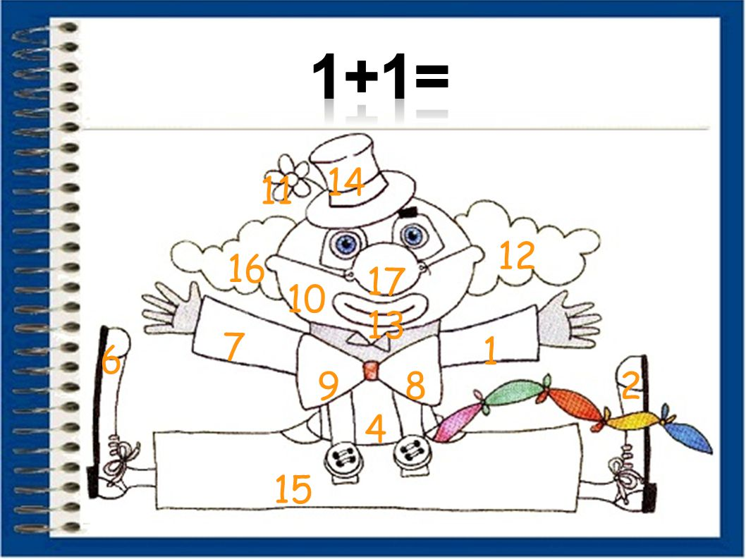 1+1= 14 11 12 16 17 10 13 7 1 6 9 8 2 4 15 9