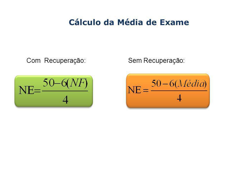 Cálculo da Média de Exame