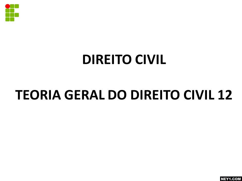 TEORIA GERAL DO DIREITO CIVIL 12