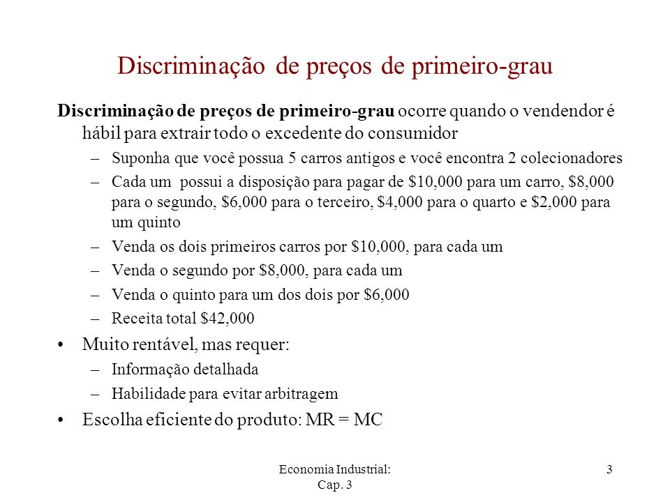 Discriminação de preços de primeiro-grau