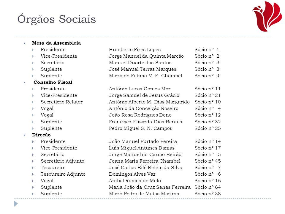 Órgãos Sociais Mesa da Assembleia