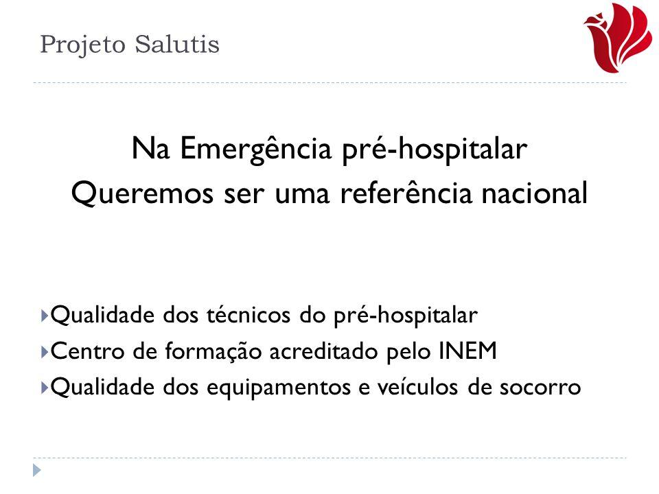 Na Emergência pré-hospitalar Queremos ser uma referência nacional