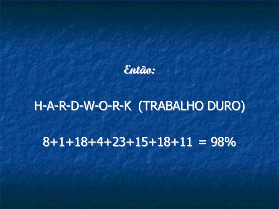 H-A-R-D-W-O-R-K (TRABALHO DURO)