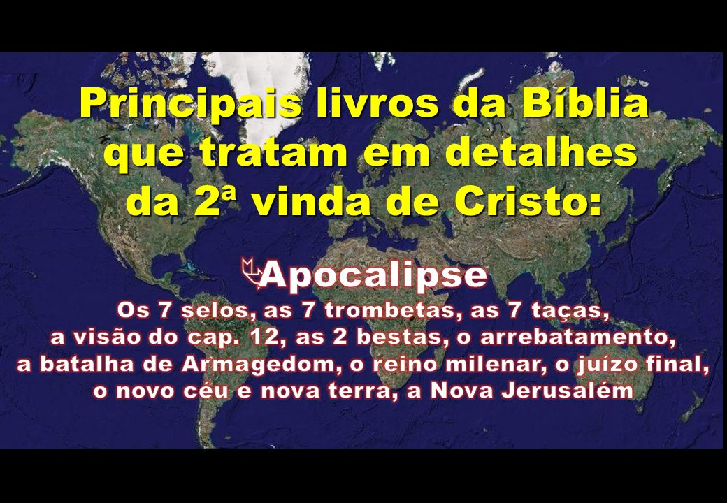 Principais livros da Bíblia que tratam em detalhes