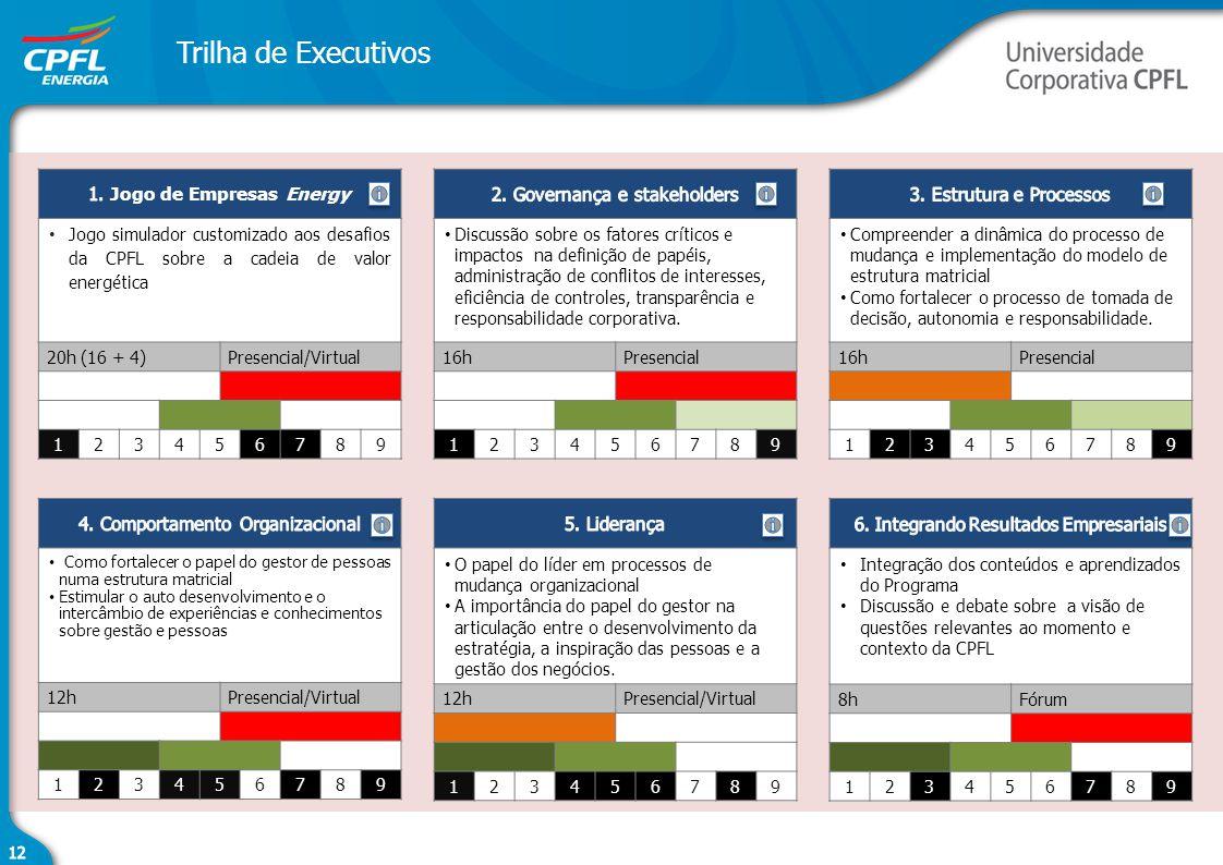 Trilha de Executivos 1. Jogo de Empresas Energy