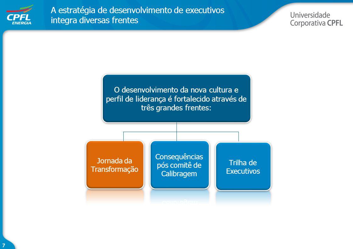 A estratégia de desenvolvimento de executivos integra diversas frentes