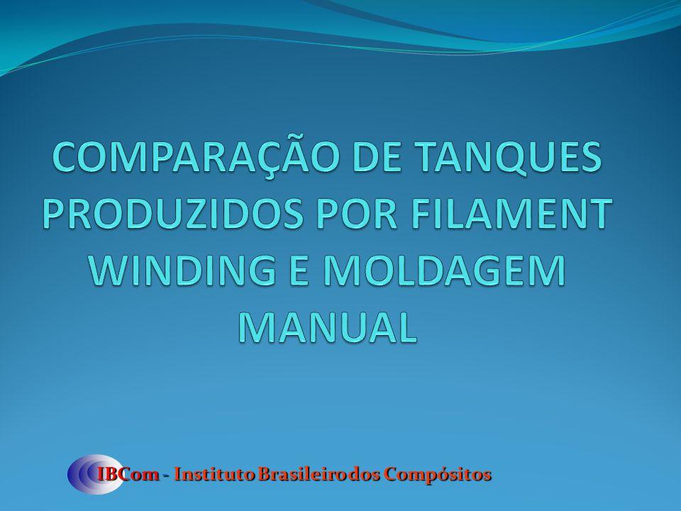 COMPARAÇÃO DE TANQUES PRODUZIDOS POR FILAMENT WINDING E MOLDAGEM MANUAL