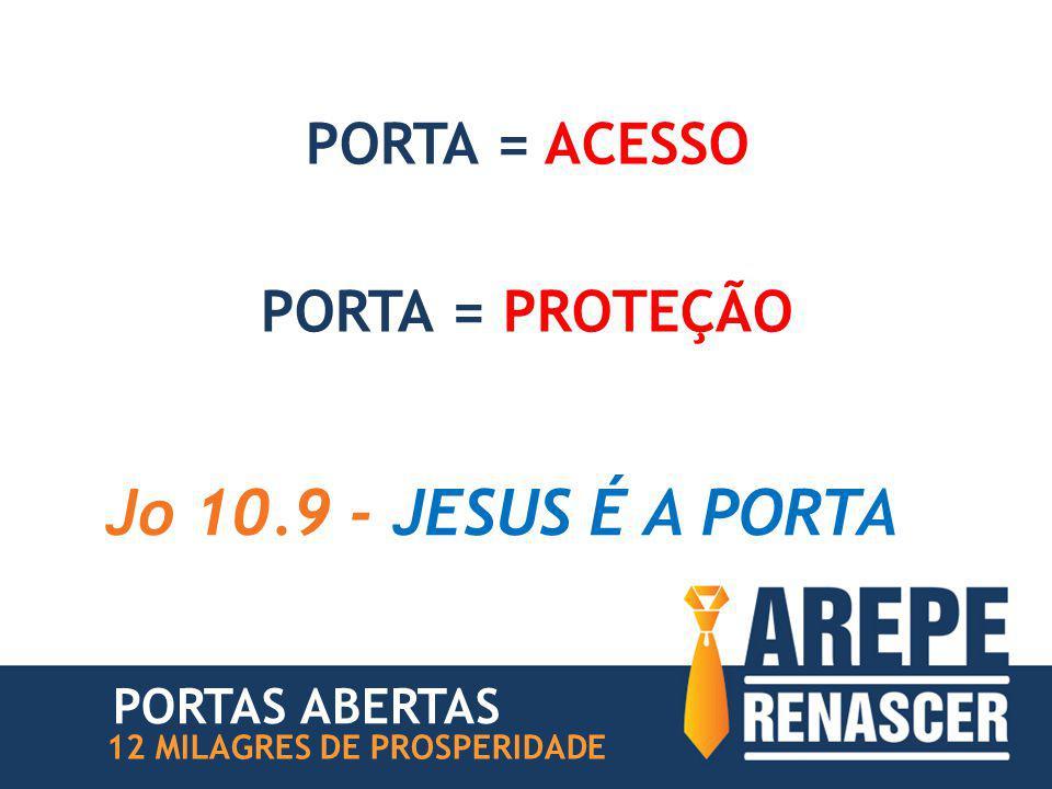 Jo 10.9 - JESUS É A PORTA PORTA = ACESSO PORTA = PROTEÇÃO
