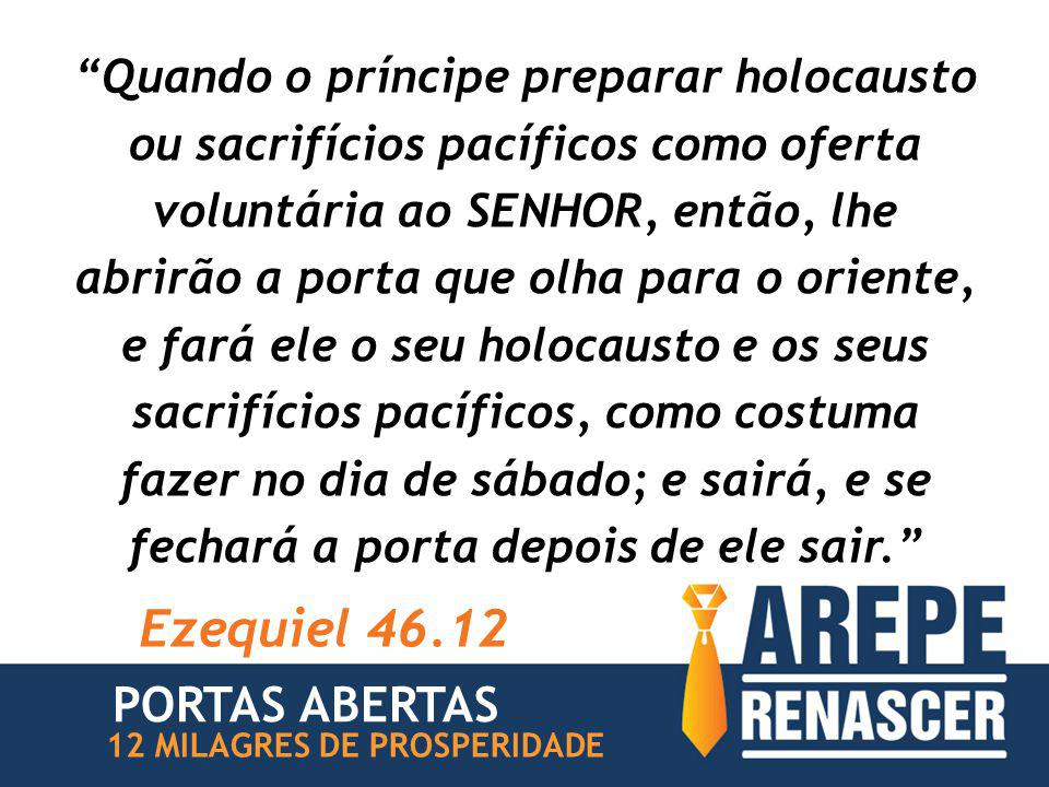 Ezequiel 46.12 PORTAS ABERTAS