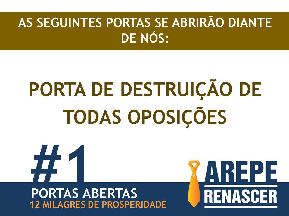 #1 PORTA DE DESTRUIÇÃO DE TODAS OPOSIÇÕES PORTAS ABERTAS