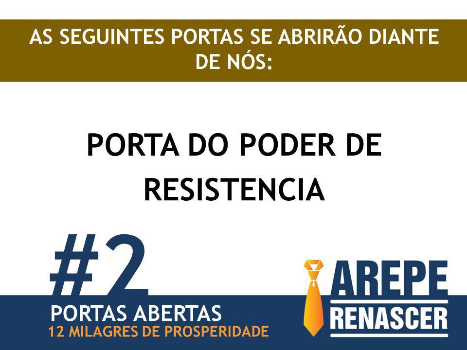 #2 PORTA DO PODER DE RESISTENCIA PORTAS ABERTAS