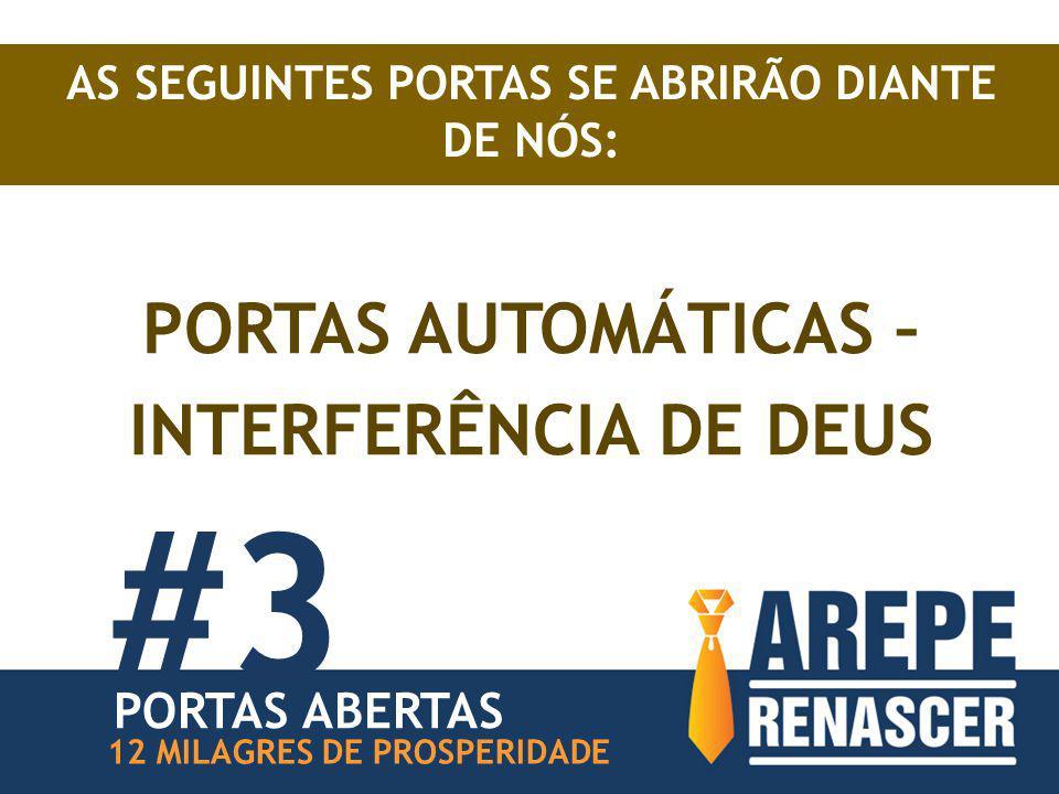 #3 PORTAS AUTOMÁTICAS – INTERFERÊNCIA DE DEUS PORTAS ABERTAS