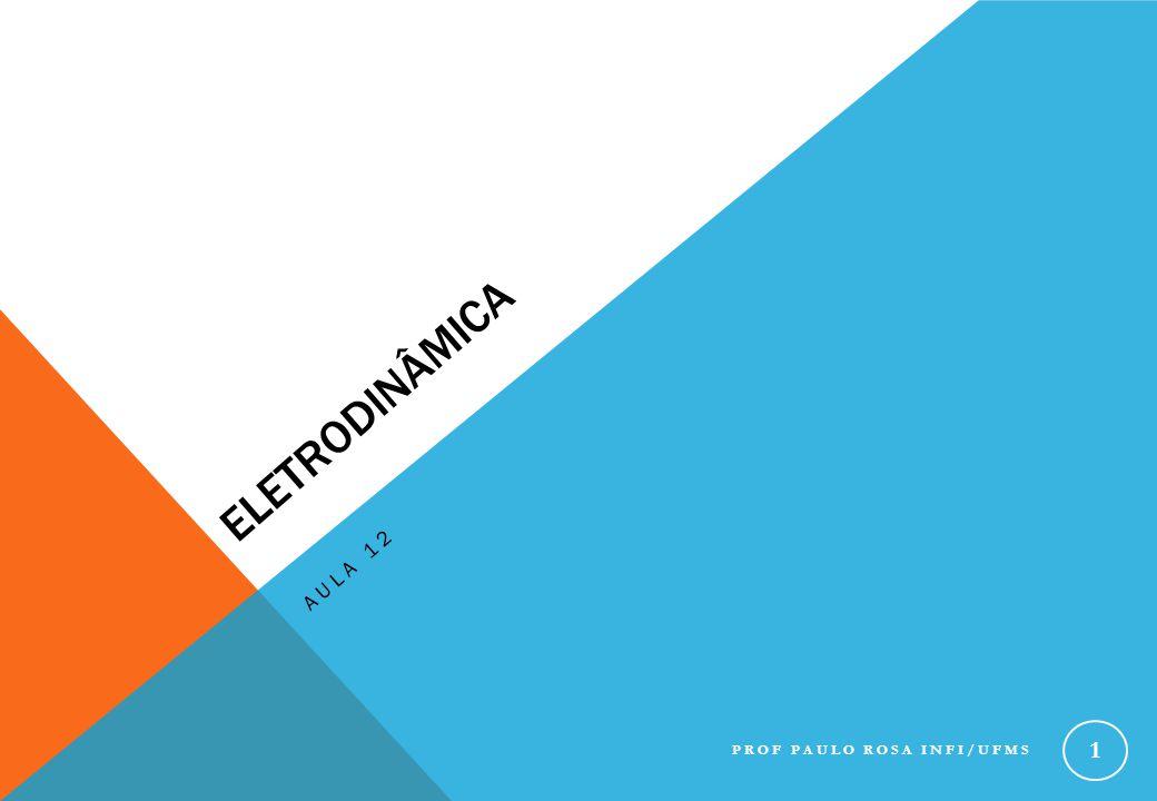 Eletrodinâmica Aula 12 Prof Paulo Rosa INFI/UFMS