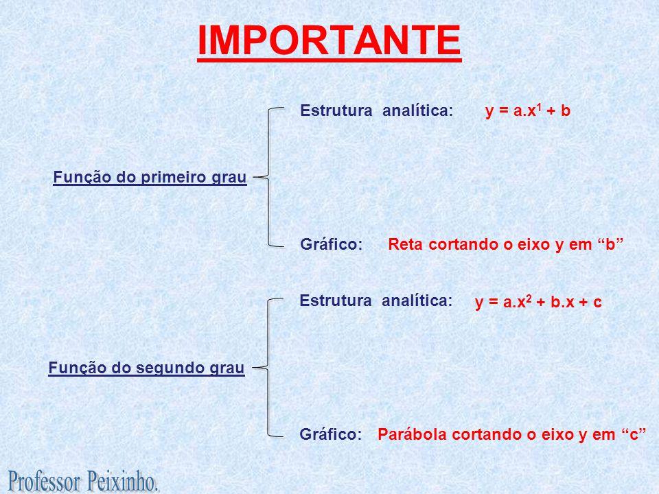 IMPORTANTE Professor Peixinho. Estrutura analítica: y = a.x1 + b
