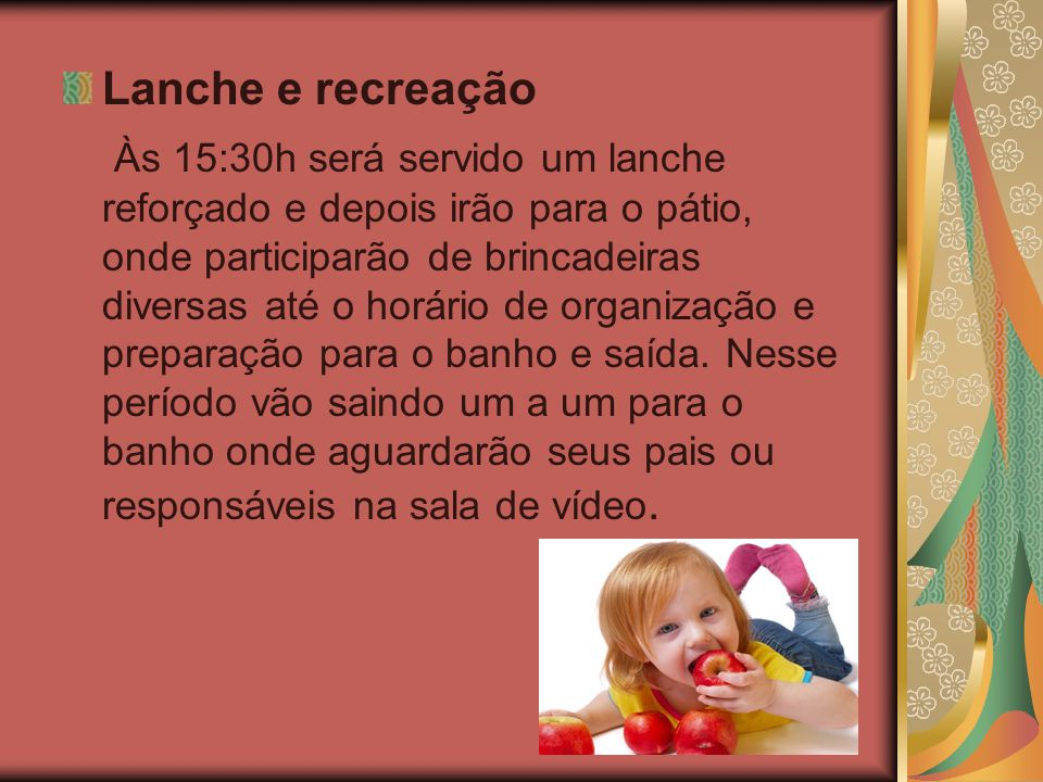 Lanche e recreação