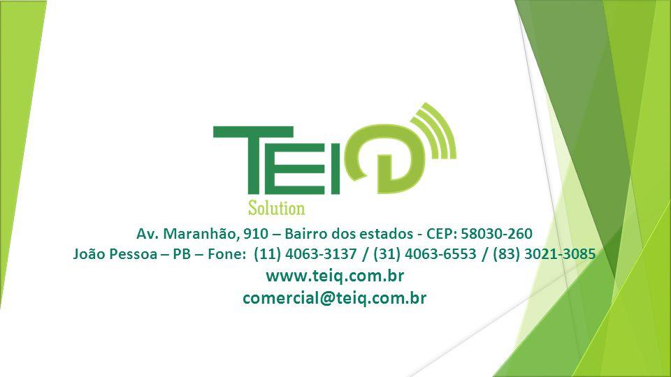 Av. Maranhão, 910 – Bairro dos estados - CEP: 58030-260