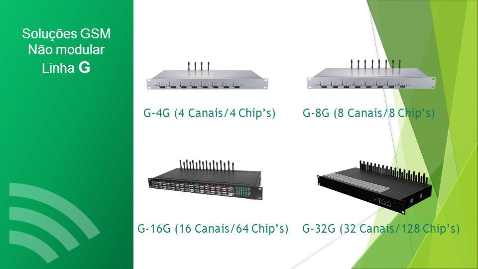Soluções GSM Não modular Linha G G-4G (4 Canais/4 Chip's)