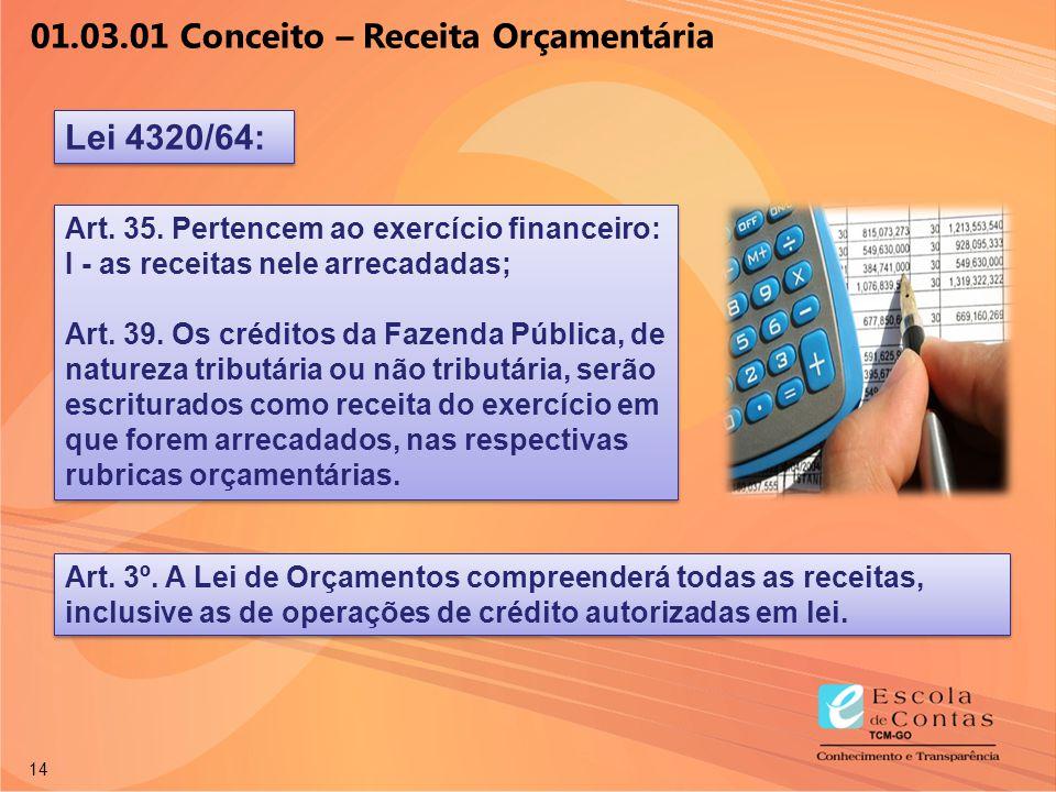 01.03.01 Conceito – Receita Orçamentária