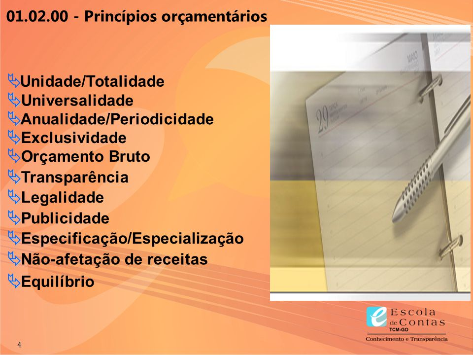01.02.00 - Princípios orçamentários