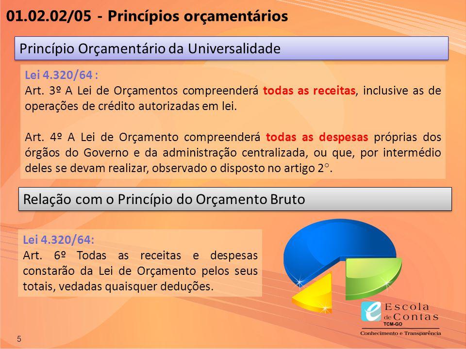 01.02.02/05 - Princípios orçamentários