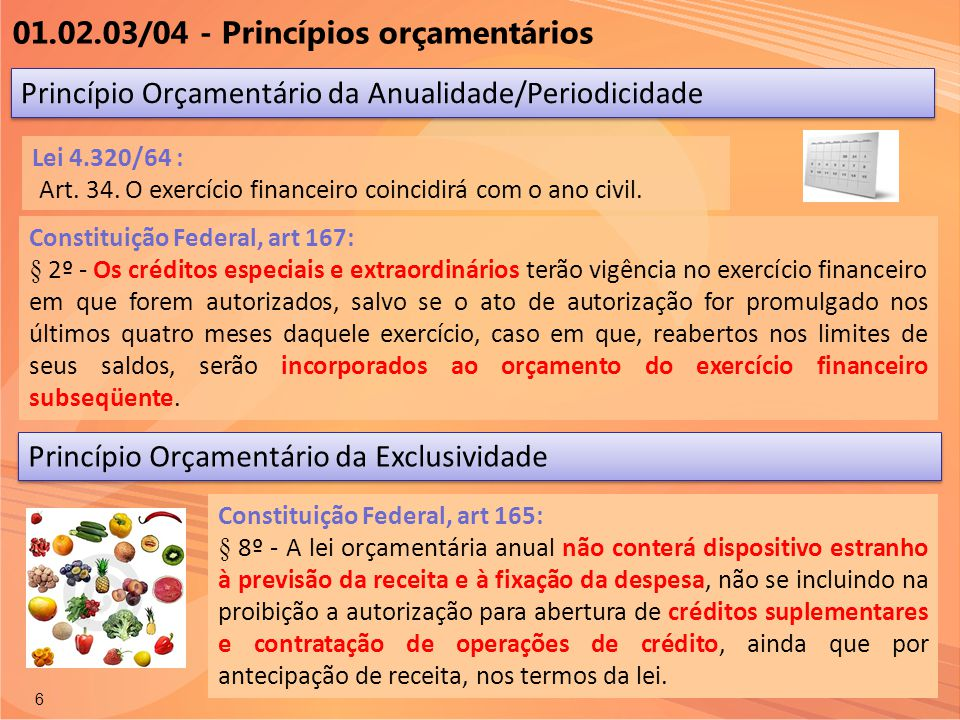 01.02.03/04 - Princípios orçamentários
